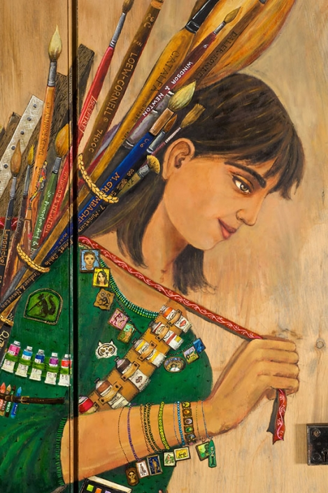 artist self-portrait irene hardwicke olivieri