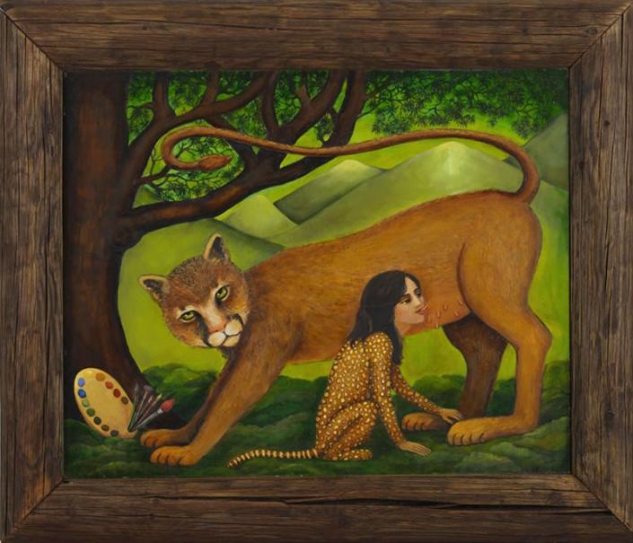 mountain lion painting irene olivieri
