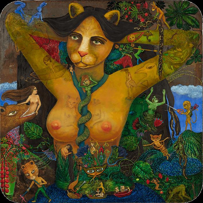 catwoman painting on metal irene hardwicke olivieri