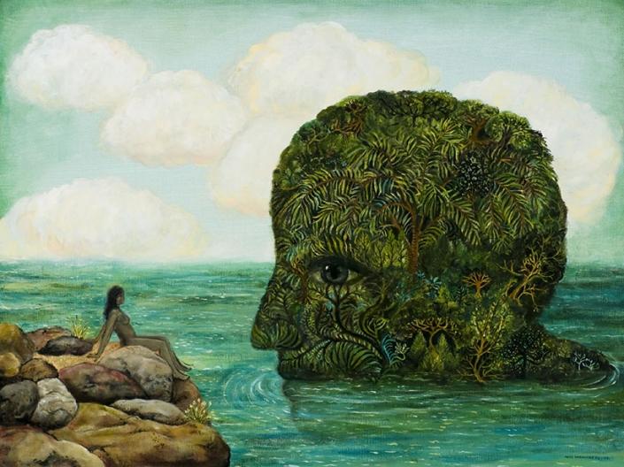 magical realism painting by Irene Hardwicke Olivieri