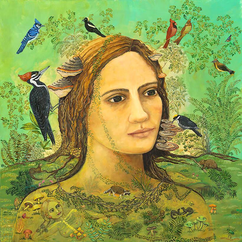 Forest floor irene olivieri surrealism painting