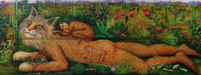 bobcat art magical realism painting