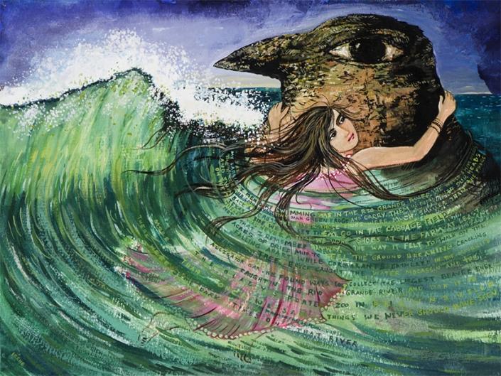 magical realism ocean watercolor