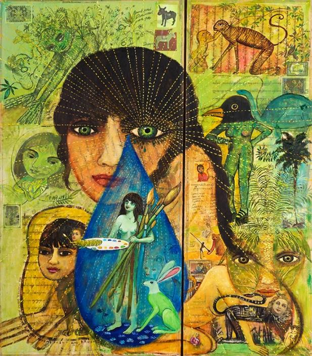 mixed media collage irene hardwicke olivieri