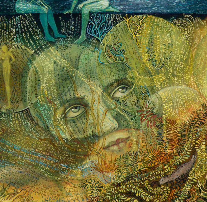 Retrieval detail magical realism underwater art