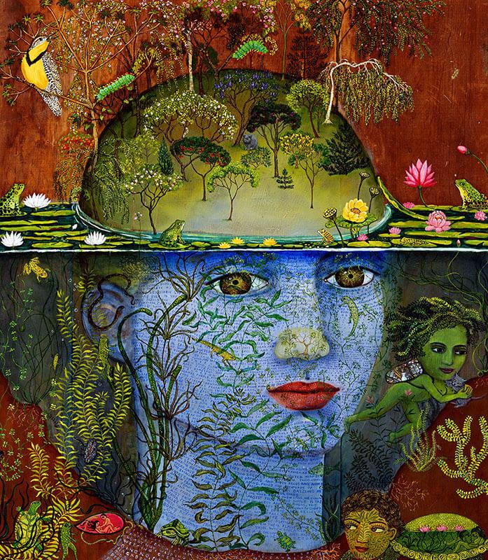 underwater painting irene hardwicke olivieri magical realism