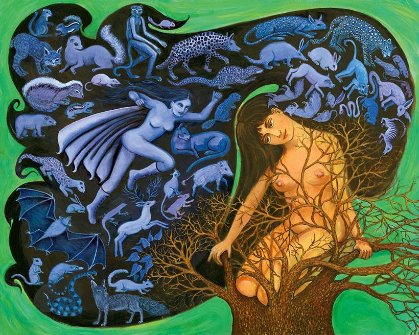 wildlife painting animal art irene olivieri