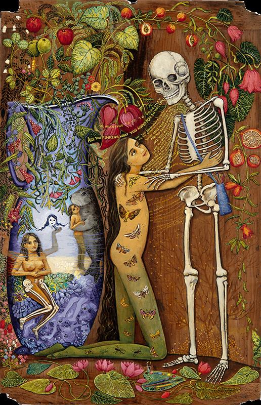 skeleton afterlife painting irene olivieri