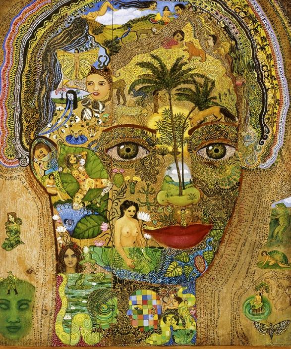 colorful magical realism painting irene hardwicke