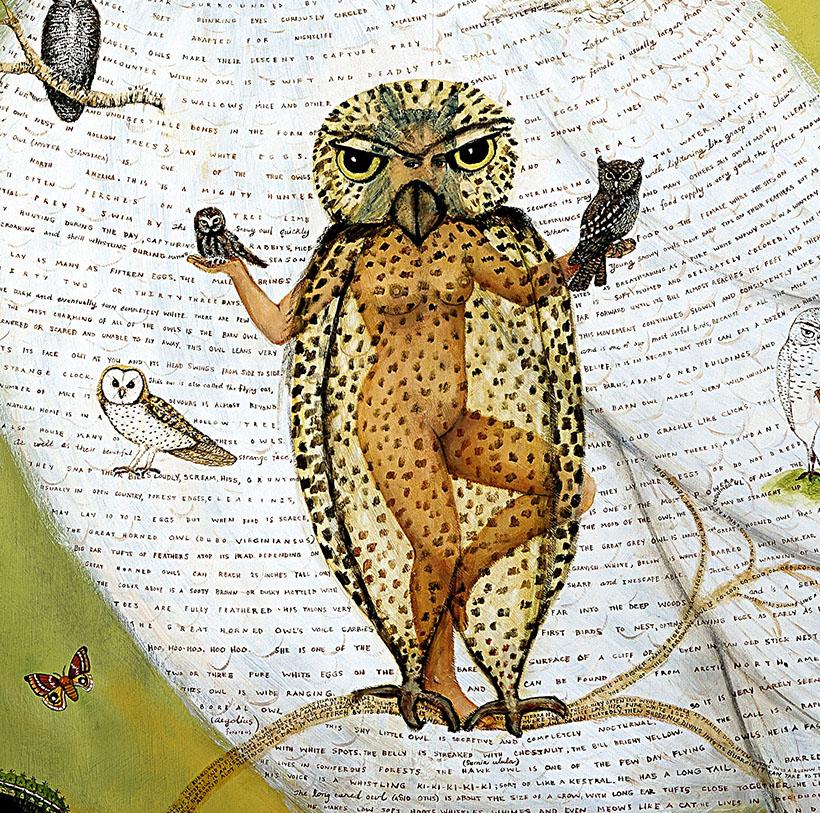 owl painting irene hardwicke olivieri