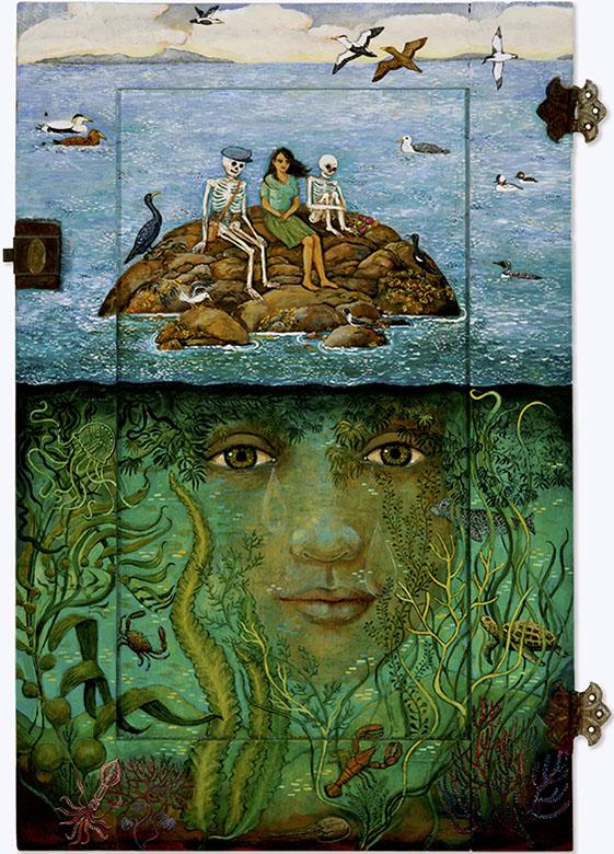 afterlife painting of skeleton Irene Hardwicke Olivieri